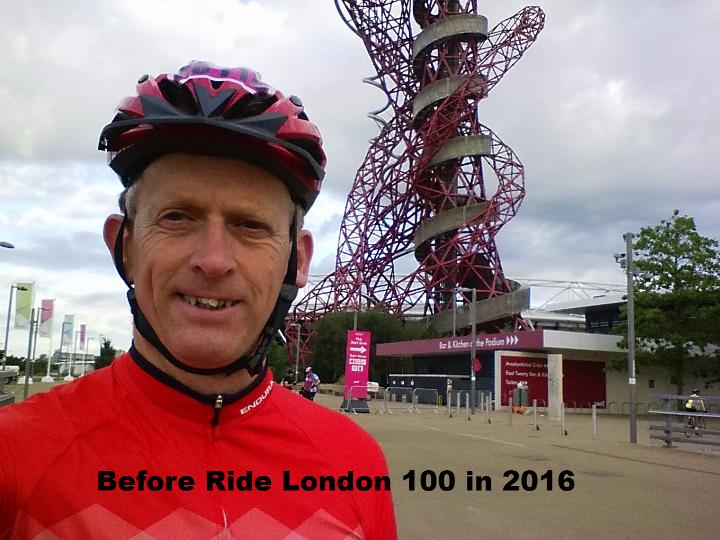 Before Ride London 100 in 2016
